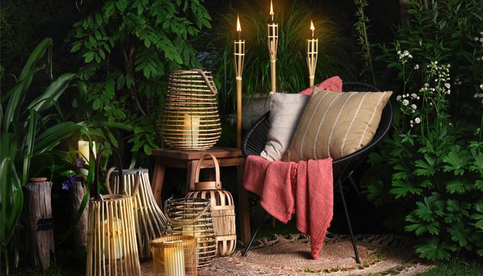 bougies de jardin lanternes